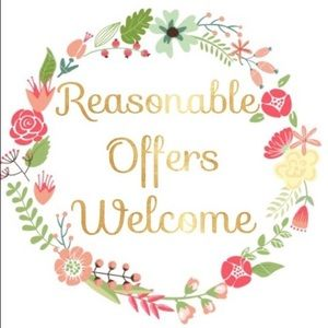 See chart — Reasonable offers welcome! 💜